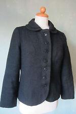 Jacke Blazer schwarz toller Kragen Vintage 70er Jahre Größe 38 / M (D4)*