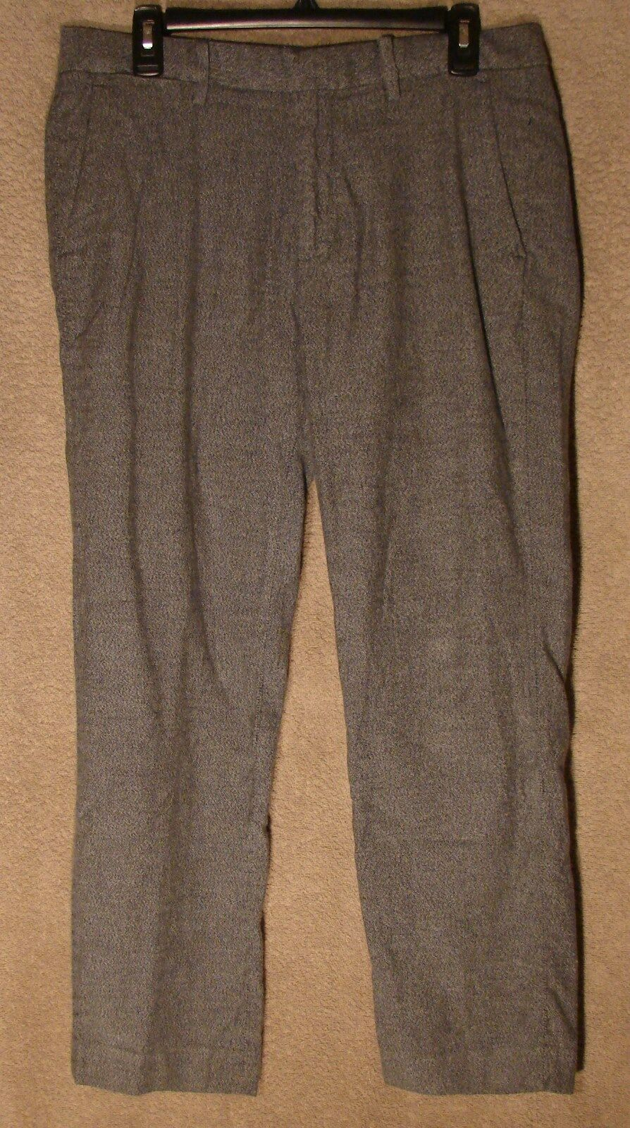 NWT bluee-Grey Tweed Straight Fit Cotton Foundation Dress Pants by Bonobos, 32X30