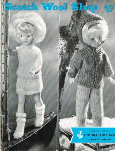 "12/""  Teenage Dolls clothes knitting pattern . V Doll 16"