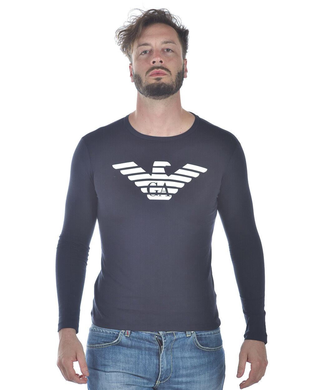 Emporio Armani T Shirt Sweatshirt Man Blau 8N1T641JPZZ 939 Sz.XL MAKE OFFER