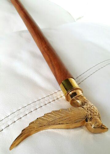 Brass Beautiful Bird Fly handle Wooden brown Walking Stick Cane Classic Style
