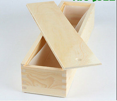 2.5KG Silicone Mold Liner Mold With Wooden Box Loaf Soap Bread Toast Molds B0263
