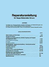VESPA Reparaturanleitung V50 / PK 50 - Handbuch Anleitung Spezial Special 50N