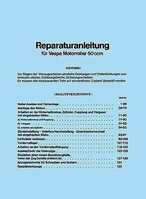 Hell Vespa Reparaturanleitung V50 / Pk 50 - Handbuch Anleitung Spezial Special 50n Supplement Die Vitalenergie Und NäHren Yin