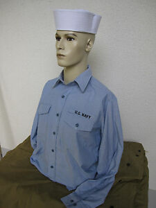 US Navy Shirt Field Depot Size L #Sailor Army Marines Usmc Rockabilly Nose Art