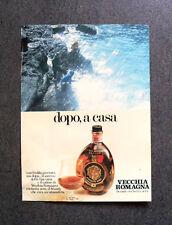 [GCG] I825 - Advertising Pubblicità -1979- VECCHI ROMAGNA BRANDY ETICHETTA NERA