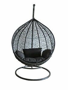 image is loading rattan swing chair outdoor garden patio hanging wicker