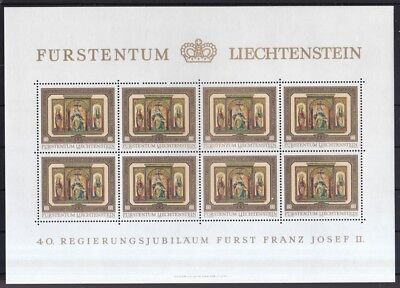 Liechtenstein 706-709 Schloss Vaduz Eleganter Auftritt Zielsetzung Liechtenstein 1978 Postfrisch Kleinbogen-satz Minr