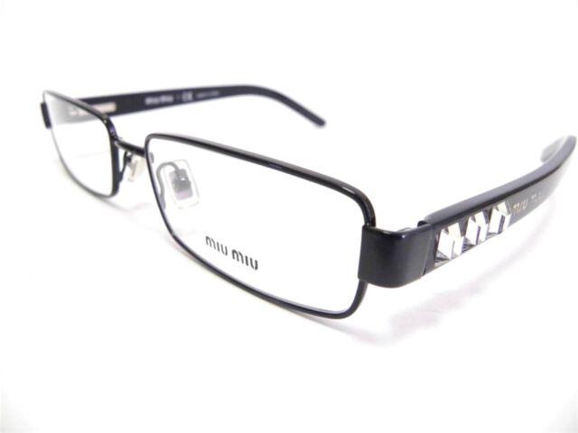 MIU MIU Eyeglasses Women\'s Frame VMU 58g Black 7ax-1o1 N 52mm ...