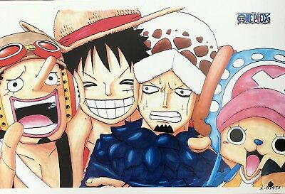 Japanese Anime ONE PIECE Poster #B4 Luffy Zoro Nami Usopp Sanji Chopper