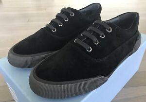 550$ Lanvin Black Suede Sneakers size US 8