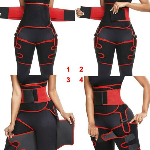 3-in-1 High Waist Trainer Thigh Trimmer Butt Lifter Leg Wrap Shaper Thermo Sweat