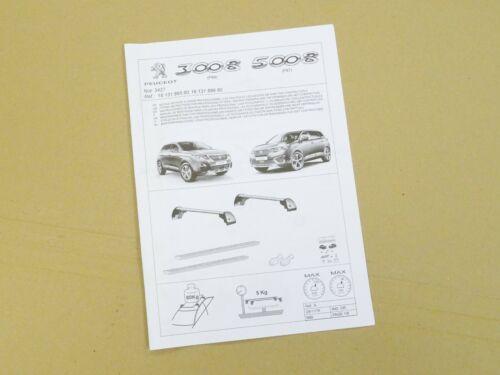 New Genuine Peugeot 3008 2017-/> SUV Roof Bars Rack System 1613189580