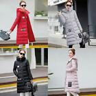 New Women Winter Warm Down Cotton Jacket Hooded Long Trench Parka Coat Outerwear