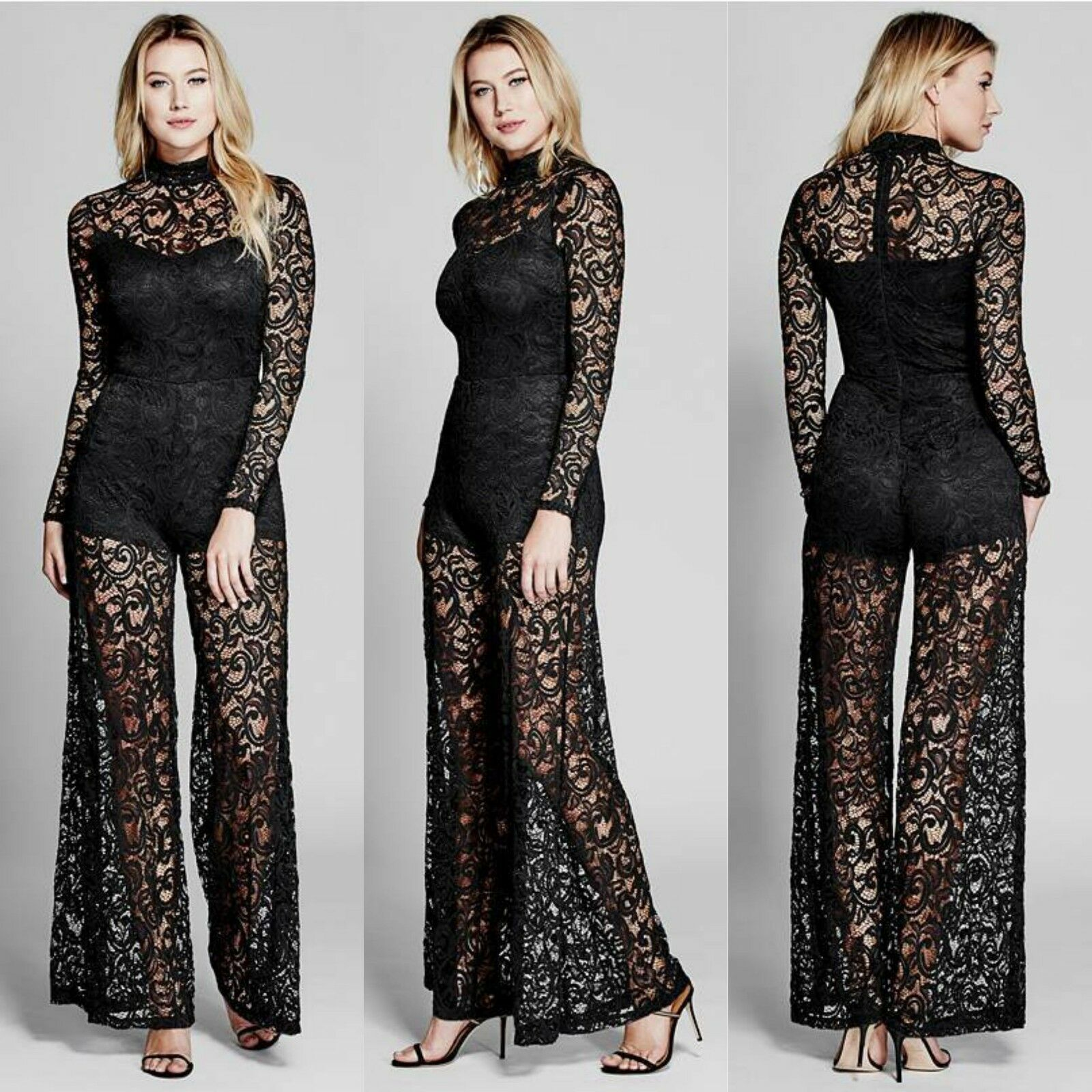 GUESS BY MARCIANO FAYE LACE JUMPSUIT