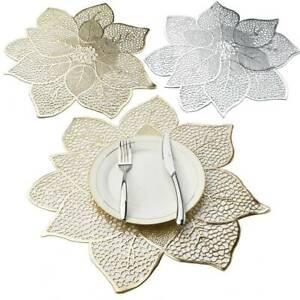 Placemat-Table-Mat-Simulation-Bauhinia-Flower-PVC-Table-Pad-Coasters-Home-Decor