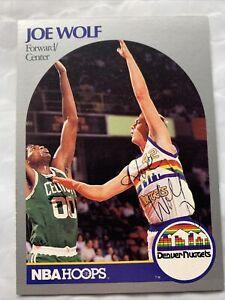 1990 NBA HOOPS #412 JOE WOLF NUGGETS North Carolina SIGNED AUTHENTIC AUTOGRAPH