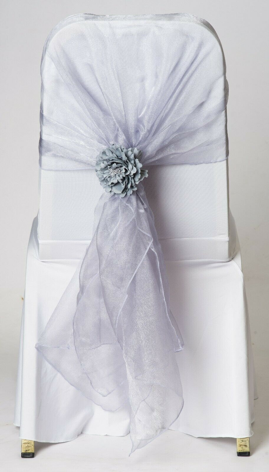 100 100 100 Lavender grau Mink Organza Chair Cover Hood Wrap Sash Bow Tie a83bed