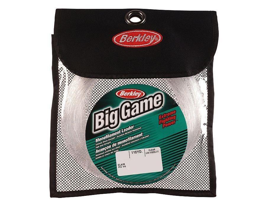 Berkley Big Game Mono Leaders   100m 110yds   Clear  monofilament