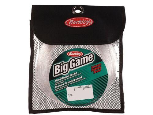 Berkley Big Game Mono Leaders Clear// monofilament 100m//110yds