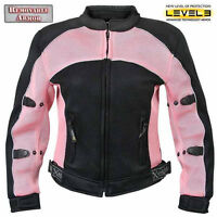 Xelement Cf-508 Womens Mesh Sports Armored Motorcycle Jacket - Size 4xl