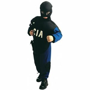 CIA-Special-Police-Kids-Boys-Fancy-Dress-Costume-SWAT-Officer-US-Law-Enforcement