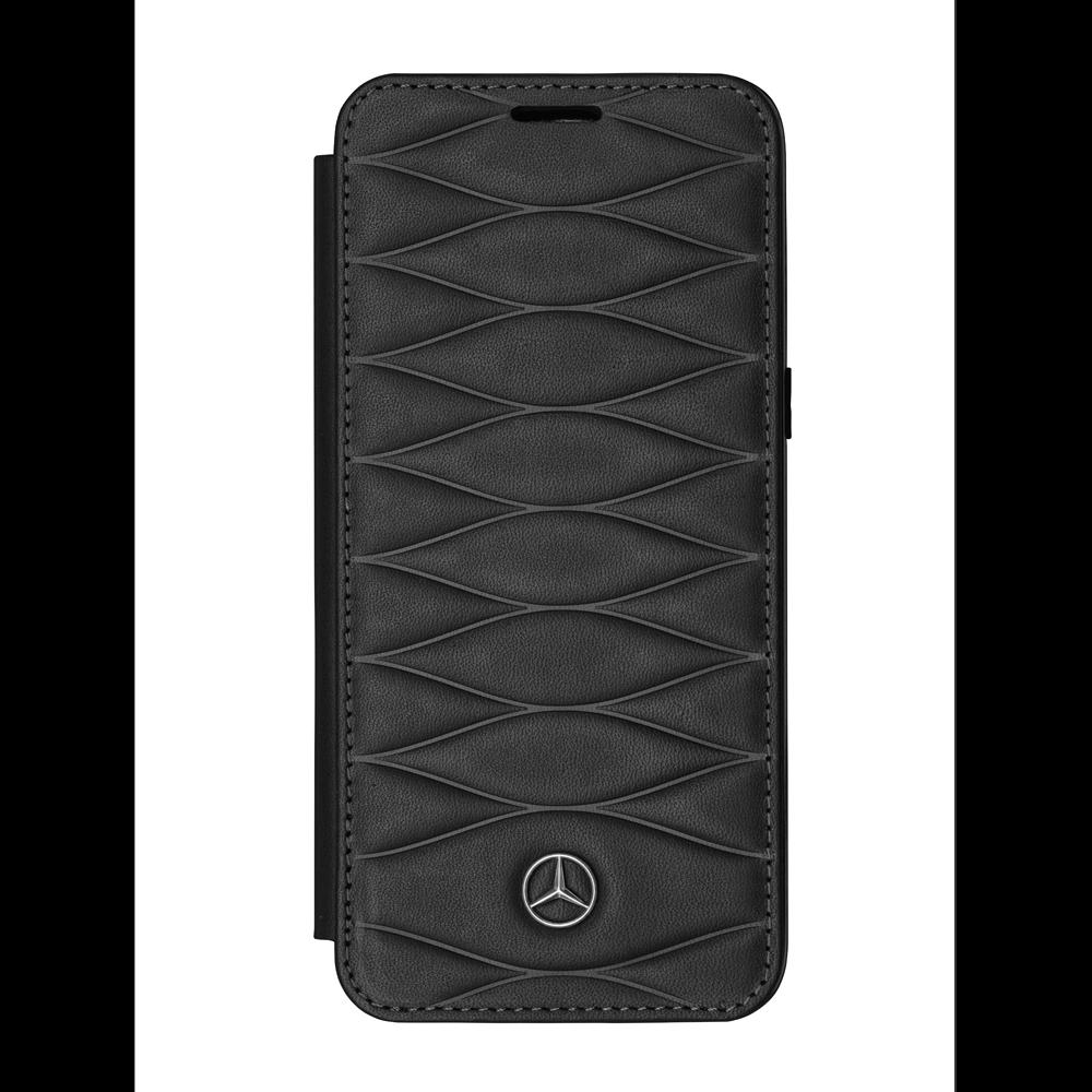 Mercedes Benz Huelle Samsung Galaxy s8 Booktype Noir