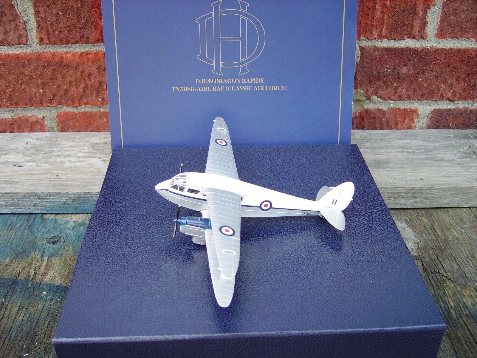 OXFORD DIECAST 1 72 SCALE DH.DRAGON RAPIDE  RAF CLASSIC AIR FORCE TX310 G-AIDL