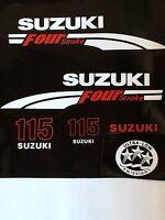 Suzuki 115 Hp Fourstroke Outboard Engine Decal Kit Marine Vinyl