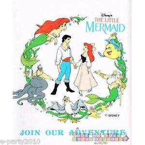 Image Is Loading ARIEL THE LITTLE MERMAID INVITATIONS Vintage Birthday Party
