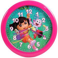 "DORA THE EXPLORER 10"" Wall Clock Pink NEW"