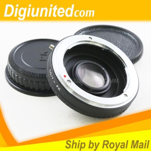 Contax Yashica mount C//Y lens to Pentax K mount PK adapter K10D K-7 K-5 K-r K-01