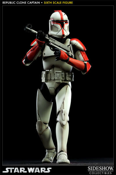 Star Wars Republic Clone Captain ROT Figure by Sideshow Collectibles