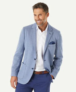 GAZMAN-Men-s-Knitted-Herringbone-Sports-Jacket-Blue