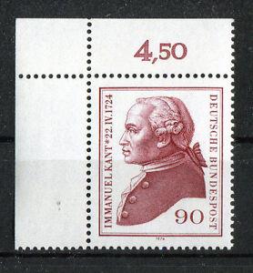 Bund-806-postfrisch-Eckrand-Ecke-1-ungefaltet-Kant-1974