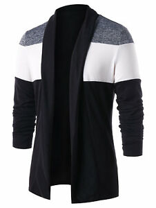 Mens-Plain-Knitted-Cardigan-Long-Sleeve-Casual-Slim-Fit-Sweater-Jacket-Coat-Tops