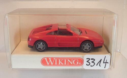 189 01 Ferrari 348 ts Targa rot OVP #3314 Wiking 1//87 Nr