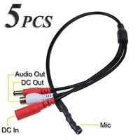 5 Pack High Sensitive Dc Audio Mini Mic Microphone For Cctv Security Camera Dvr