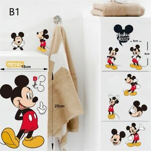 Image Is Loading Cartoon Mickey Mouse Minnie Mouse Wall Decals Sticker
