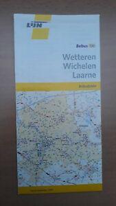 ► De Lijn folder/netplan belbus 130, Wetteren - Wichelen - Laarne (2012)