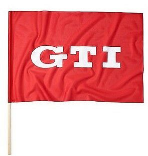 NEW GENUINE VOLKSWAGEN MERCHANDISE VW GTI FLAG POLE RED WHITE 60 X 75 CM