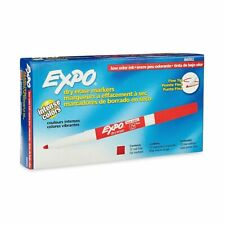 12 Pack Expo Fine Tip Dry Erase Markers In Color Red Quality Whiteboard Markers