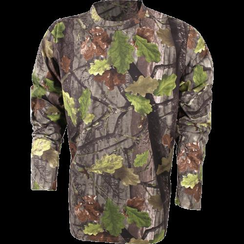 Jack Pyke T-shirt a manica corta CACCIATORI Camo ROVERE Inglese Woodland Pesca