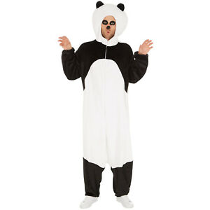 outlet adf49 b7b1a Dettagli su Costume da Panda Uomo Donna Unisex Kigurumi Animale Pigiama  Carnevale Halloween