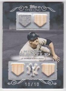 2007-TOPPS-STERLING-MICKEY-MANTLE-GAME-USED-FIVE-PIECE-JERSEY-amp-BAT-CARD-10-10