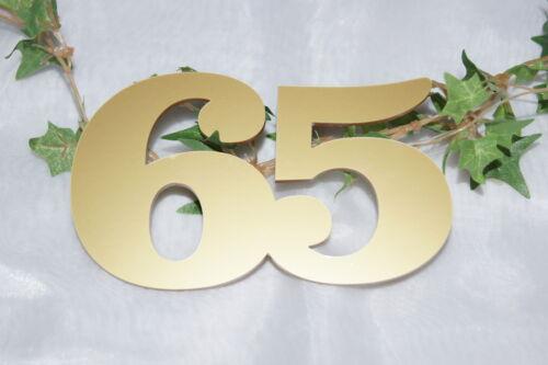 Tischdekoration Jubiläum  Geburtstag Jubiläumszahl Jubizahl 65 gold