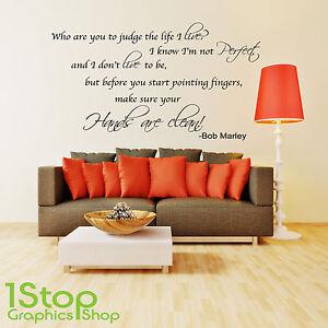 Image Is Loading Bob Marley Wall Sticker Quote Home Lounge Lyrics