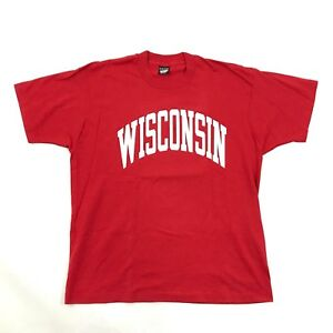 NEW VINTAGE Screen Stars WISCONSIN BADGERS Shirt Adult XL Single Stitch USA MADE