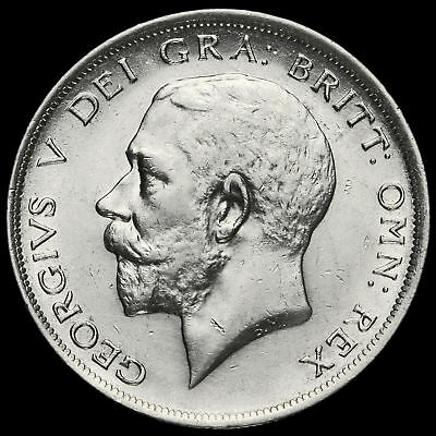 1917 George V Silver Half Crown, GVF