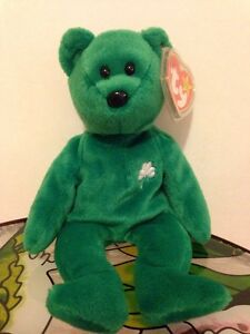 410a7683acd VERY RARE FIRST EDITION 1997 ERIN TY BEANIE BABY MINT CONDITION W ...
